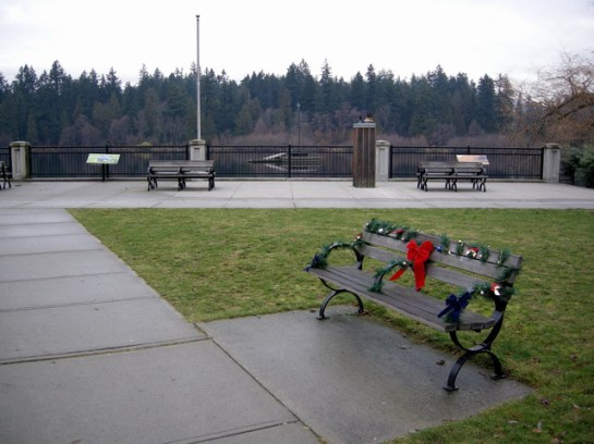 Christmas bench, Lost Lagoon, Vancouver (exposure)_resize